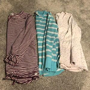 BUNDLE—Girls long sleeve shirts